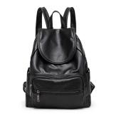 Promo Fashion Korean Version Backpacks Pu Leather Women Backpack Sch**l Bag Forteenagers Ladies G*rl Back Pack Bagpack Mochila Black Intl