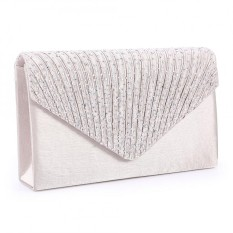 Fashion Ladies Diamante Satin Clutch Bag Evening Party Shiny Bridal Bag- Apricot [buy 1 Get 1 Free Bracelet] - Intl By Eleganthome.