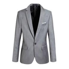 De Fashion Men Blazer Solid Color Slim Man Casual Thin Suit Jacket Size S-6xl By De-Diamond.