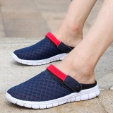 Compare Fashion Men Mesh Breathable Color Match Open Heel Slip On Beach Slippers Sandals Intl Prices