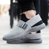 Recent Fashion Men Mesh Elastic Band Slip On Casual Athletic Sport Shoes Outdoor Sneakers Intl
