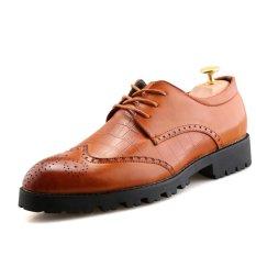 Fashion Men Shoes Leather Men Dress Shoes Business Casual Classic Gentleman Formal Shoes Intl Review