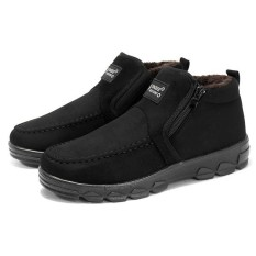 Where Can I Buy Fashion Men S Old Peking Style Side Zipper Warm Plush Lining Casual Ankle Boots Intl