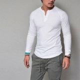 Buying Fashion Men S Slim Fit V Neck Long Sleeve Muscle Tee T Shirt Casual Tops Intl