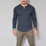 Low Cost Fashion Men S Slim Fit V Neck Long Sleeve Muscle Tee T Shirt Casual Tops Intl