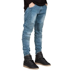 Buy Fashion Mens Designed Straight Slim Fit Biker Jeans Pant Denim Trousers Intl Not Specified Online