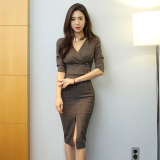 Where Can You Buy Ouninyca Women S Stylish Slim Fit Two Piece Office Dress