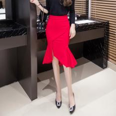 Fashion New Style Irregular Ol Skirt Fishtail Skirts Red Shopping