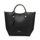 Discount Fashion Pu Leather Tote Bag Vintage Women Shoulder Bag Black Intl Oem China