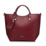New Fashion Pu Leather Tote Bag Vintage Women Shoulder Bag Red