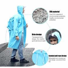 Recent Fashion Rainwear Eva Transparent Raincoat Poncho Portable Waterproof Raincoat For Man Woman Lady Outdoor Long Use Rain Coat Intl