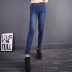 Latest Fashion Spring New Women Jeans Slim Elastic Skinny Trousers Ladies Fashion Full Length Casual Jeans Intl