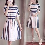 Buy Cheap Yiyufang Striped Maternity And Nursing Tunic Dress