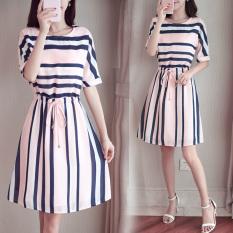 Buy Yiyufang Striped Maternity And Nursing Tunic Dress