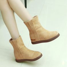 Cheapest Fashion Thick Warm Casual Cotton Padded Shoes New Style Snow Boots Beige Quality Assurance