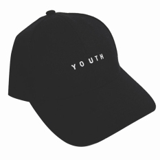 Fashion Unisex Boys Girls Cotton Adjustable Baseball Cap Snapback Hip Hop Hat with YOUNTH Letter Embroidery