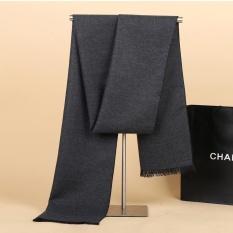 Sale Fashion Winter Men Scarves Thicken Warm Scarves Wool Cashmere Scarf Pashmina Tassels Women Men Wrap Gifts Dark Grey 180X30Cm Intl Oem Cheap