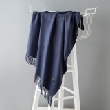 Price Fashion Winter Scarves Women Shawls Thicken Warm Scarves Wool Cashmere Scarf Tassels Woman Shawl Wrap Gifts Navy 200X70Cm Intl Not Specified China