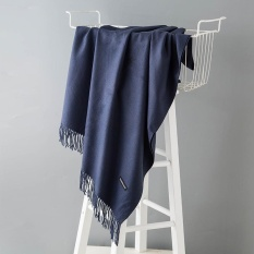 Buy Fashion Winter Scarves Women Shawls Thicken Warm Scarves Wool Cashmere Scarf Tassels Woman Shawl Wrap Gifts Navy 200X70Cm Intl Not Specified