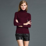 Buy Fashion Winter Women Sweater Knitwear Turtle Neck Long Sleeves Ribbed Knitted Pullover Tops Intl Online China