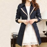 Best Buy Fashion Women Casual Trench Coat Overcoat Korean Style Female Solid Color Coats Jackets Outerwear Black Intl