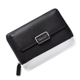 Fashion Women Clutch Pu Leather Shoulder Solid Ladies Bags Chain Bag (Black Intl Coupon