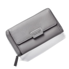 Who Sells Fashion Women Clutch Pu Leather Shoulder Solid Ladies Bags Chain Bag (Grey Intl