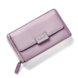 Discounted Fashion Women Clutch Pu Leather Shoulder Solid Ladies Bags Chain Bag (Violet Intl