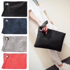 Fashion Women Faux Leather Handbag Clutch Envelope Evening Bag Purse Party Retro (Gray) -