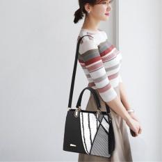 Compare Fashion Women Leather Handbag Lady Shoulder Bag Purse Messenger Tote Satchel Black Intl Prices