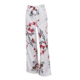 For Sale Fashion Women Loose High Waist Wide Leg Long Pants Palazzo Trousers White Intl
