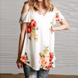 Price Fashion Women Off Shoulder Print T Shirt Short Sleeve Casual Blouse Plus Size Ss1675 Intl On China