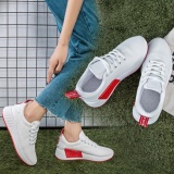 Get The Best Price For Fashion Women Running Shoes Breathable Mesh Shoes Sports Lace Ups Flat Shoes Intl