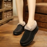 Buy Cheap Fashion Women Suede Wool Lining Slip On Ankle Short Snow Winter Boots Intl