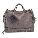 Buy Fashion Women Winter Rivet Shoulder Bag Versatile Handbag Sling Bag Grey Intl Vakind Cheap
