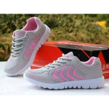 Favolook Fashion Unisex Mesh Flat Sneakers Track Running Sport Shoes Gray Pink Intl Favolook Cheap On China