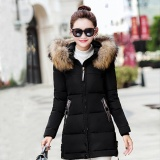 Discount Favolook New Fashion Lady Winter Thick Slim Warm Jacket Fur Hooded Solid Color Down Coat Black Intl Favolook On China