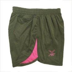 Fbt Women S Running Shorts 674 Charcoal Berry Pink Sale