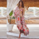 Feitong Women Boho Print Floral Loose Shawl Kimono Cardigan Top Cover Up Blouse Intl Lower Price