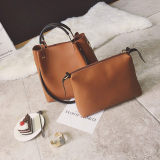 Korean Version Of The New Tote Bags Shoes Light Brown For Sale Online