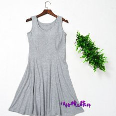 Discount Cotton With No Rims Can Be Outside Wear Cup Dress Lingerie Gray Gray