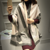 Cheapest Shumili Women S Large Warm Shawl Two Tone Twill Gray Powder Two Tone Twill Gray Powder Online