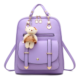 Price Female New Style Middle Sch**l Bag Backpack Hong Yu Purple Plus Shopping Car Bear Card Package Sachet Bear Card Package Sachet Oem