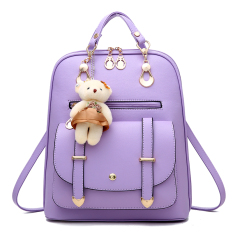 Where Can I Buy Female New Style Middle Sch**l Bag Backpack Hong Yu Purple Plus Shopping Car Bear Card Package Sachet Bear Card Package Sachet