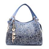 Female Pu Leather Handbag Hollow Out Bags Shoulder Bag Color Gradient Tassel Bag Purple Best Price