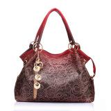 Best Deal Female Pu Leather Handbag Hollow Out Bags Shoulder Bag Color Gradient Tassel Bag Red