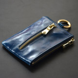 Review Cute Soft Leather Women S Mini Key Buckle Card Holder Sapphire Blue Color China