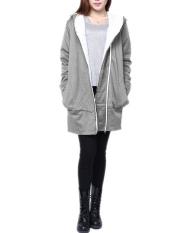 Buy Five Star Store Zanzea Women Long Slim Hoodie Jacket Coat Zip Sweatshirt Outwear Top Size Grey Intl