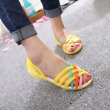 Where To Shop For Women S Korean Style Soft Sole Plastic Sandals Yellow Yellow