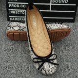 Sale Flat Shallow Mouth Round Flat Shoes Snake Shoes White China Cheap